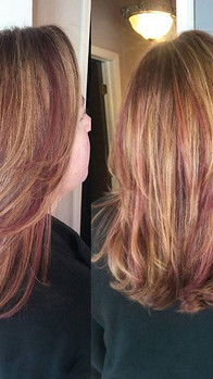 A little Burnt Sienna #haircolor for #fall love this combination. Great after a summer of blonde she was sporting.jpg