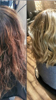 WOW swipe👉👉 for more pics!  #transformationfriday #beforeandafter #colorcorrection #beautiful #shadowroot I had the pleasure of doing today_
