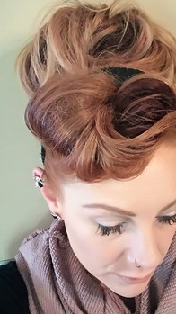 One of the fun hairstyles to try im always taking risks with my look ..jpg