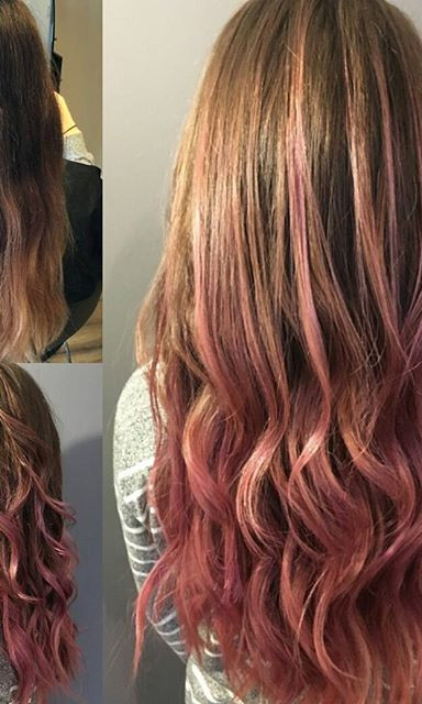 #beforeandafter #vintagerose #haircolor I did today #lovemywork #loveitkillit #salonlifestyle #redkenready #redkenobsessed #citybeats #mixol