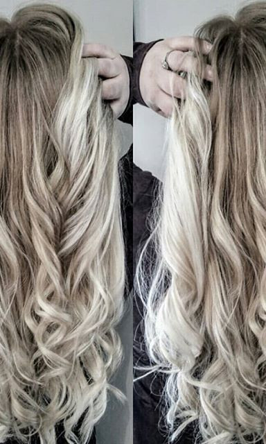 Went from our usual summer blonde into the winter with #icyblonde #shadowroot #balayage #redkenobsessed #redkenready #redkenholiday #workflo