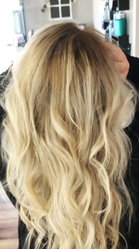 Had some fun with this lady today making our mini video to show off this beautiful color on this beautiful client must be #blonde week with_