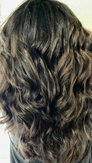Gave this dark haired beauty a natural brown Carmel #balayage .. Her hair was already in great condition with a beautiful color to start.jpg