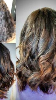 #beforeandafter #haircut #bob #balayage #sombre #chocolate #caramelhighlights #hilite #hairpainting #lovemywork #salonlifestyle #behindthech