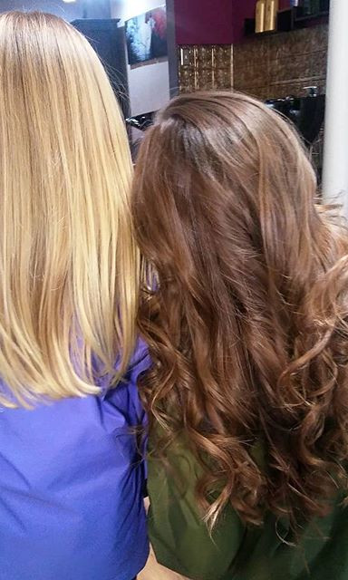 #sisterlove one wanted curls like a princess the other (who is 4 btw) wanted it straight both beautiful girls ..jpg
