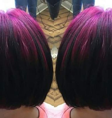 Did this hot #edgy  #shadowroot #colormelt on a client on Saturday from #hotpink to black violet.jpg