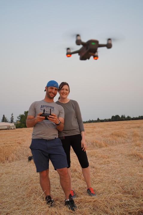 Seth and Megan Testing A Drone