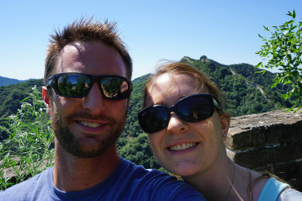 In front of the great wall