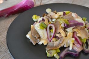 Sautéed Spring Onions & Oyster Mushrooms