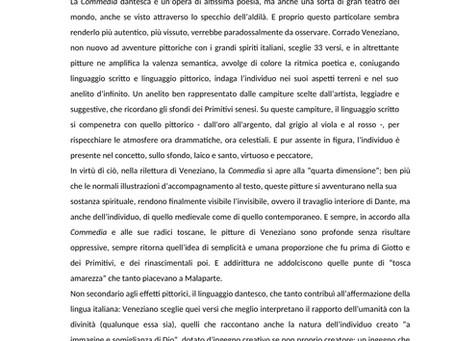"""""""Aspettando Dante 2021"""", esposizione di Corrado Veneziano, nota di curatela di Niccolò Lucarelli."""