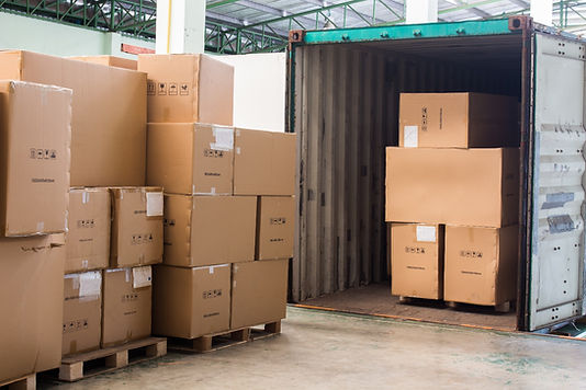 boxes inside shipping containers