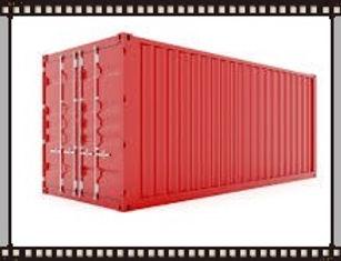 red connex storage container