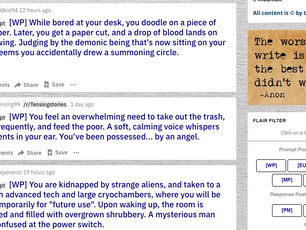 The best writing prompts are on reddit