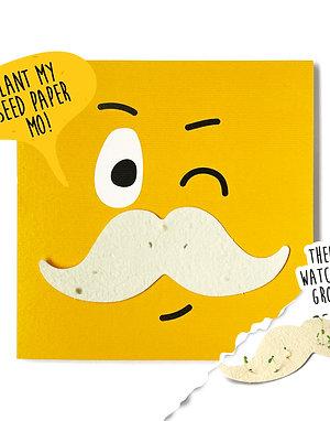 "Grow a Mo! Plantable Motif Card ""Sonny"""