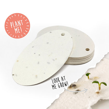 Plantable Oval Gift Tags