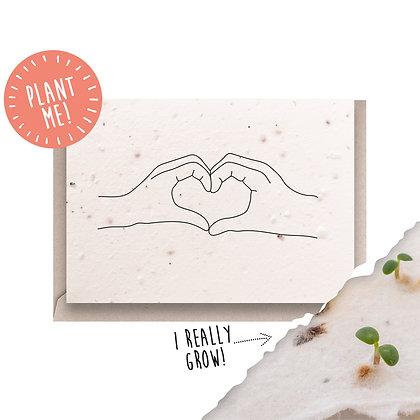 Love Heart Plantable Seed Card