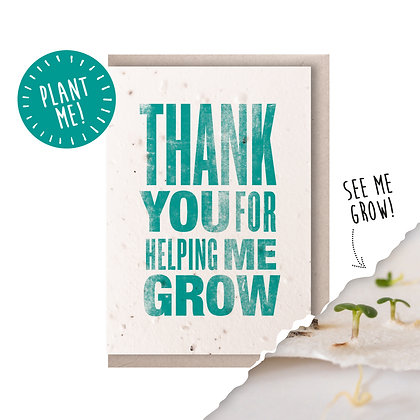 Thank You Plantable Seed Card