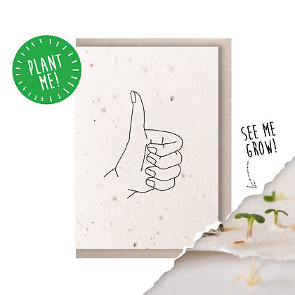 Thumbs Up Plantable Seed Card