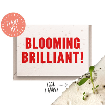 Blooming Brilliant! Plantable Card