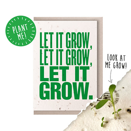 Let it Grow! Plantable Seed Card