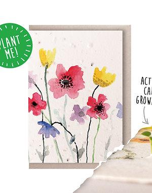Wildflowers Plantable Seed Card