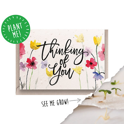Thinking of You Plantable Seed Card