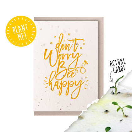 Bee Happy Plantable Seed Card