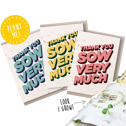 Plantable Seed Thank You Notecards