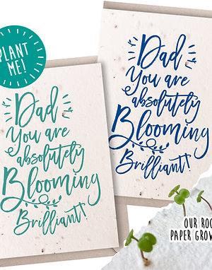 Briliiant Dad! Plantable Seed Card