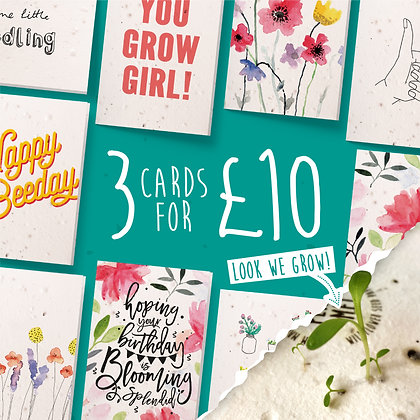 3 Cards for £10