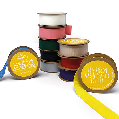 Eco Friendly Ribbon 100% Recycled Grosgrain