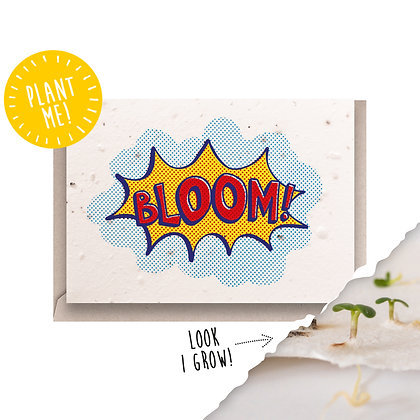 Bloom! Plantable Seed Card