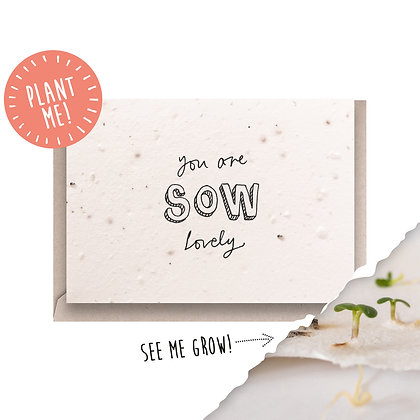 Sow Lovely Plantable Seed Card