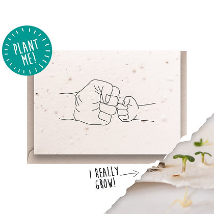 Little Fist Bump Plantable Seed Card