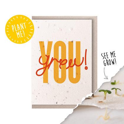 You Grew! Plantable Seed Card Orange