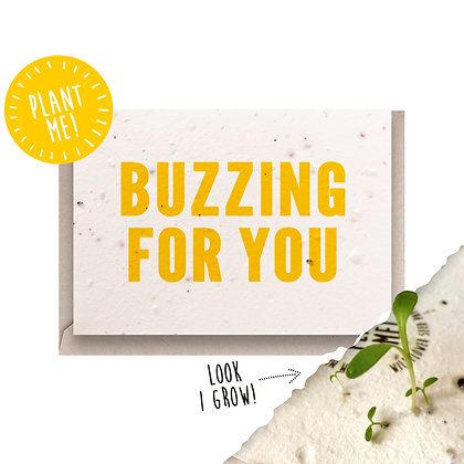 Buzzing For You! Plantable Card