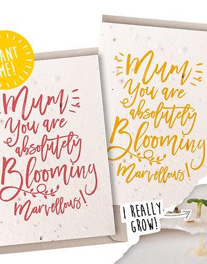 Marvellous Mum! Plantable Seed Card
