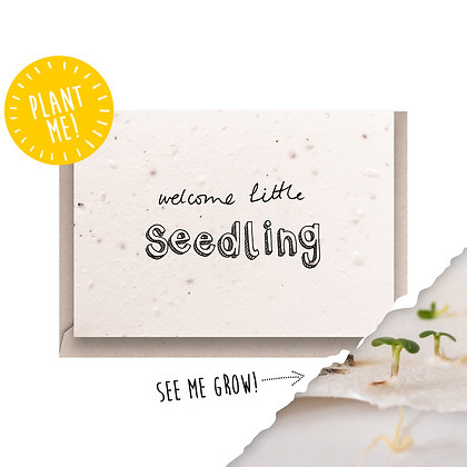 Welcome Little Seedling Plantable Seed Card