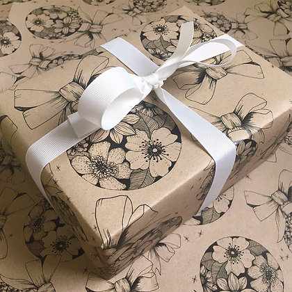 Recycled Wrapping Paper & Seed Gift Tag Set