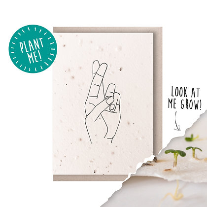 Fingers Crossed Plantable Seed Card