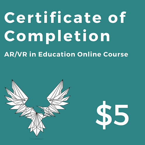 AR/VR in Education Online Course: Certificate of Completion