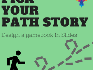 "Create a ""Pick Your Path Story"" in Slides"