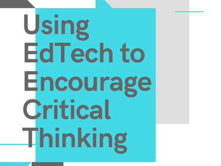 Using EdTech to Encourage Critical Thinking