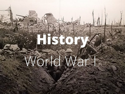 History - WWI: Beginning on Modern Warfare