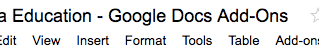Google Docs Add-Ons for Education