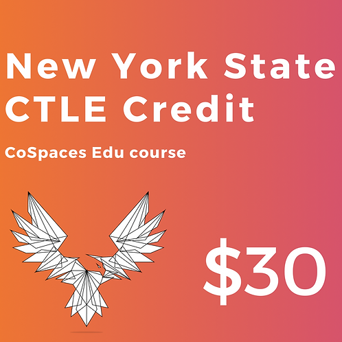 CTLE Credit for CoSpaces: Creating Virtual Worlds