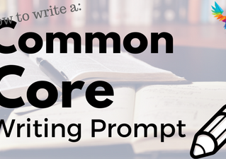 How To Write A Common Core Writing Prompt