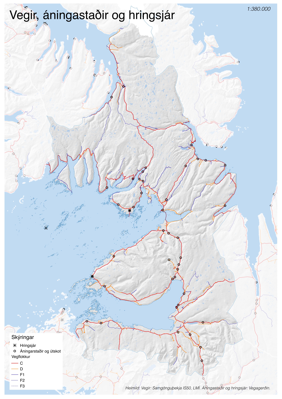 Vegir, áningastaðir og hringsjár