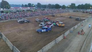 Demolition Derby at the 2017 Hartford Fair in Croton, OH