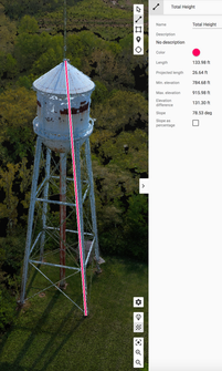 Tower total height
